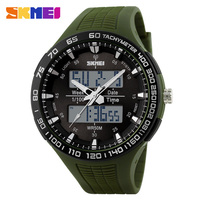 Big face leisure style dual time design your own watch free samples