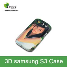 Top Grade sublimation 3D phone case for Samsung S3