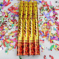 Best price gold confetti cannon new design