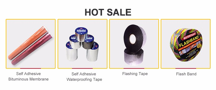 3mm self adhesive bitumen waterproof flashing tape