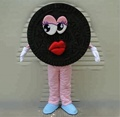 HOLA  dark brown cookies mascot costume for sale
