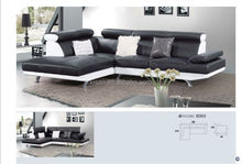Modern leather sofa furniture classical gray sectional sofa