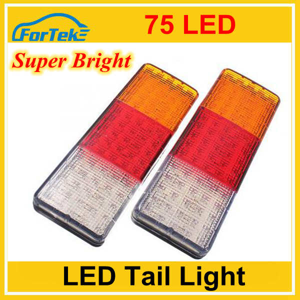 100% waterproof 75LED car rear light PMMA lens tractor rear light tail light