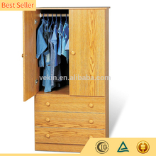 High Quality Bedroom Wooden Wardrobe Door Designs With 3-Drawer Wardrobe