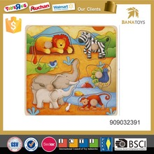 Hot sale wooden jigsaw puzzle game for kids