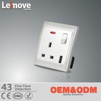 wall mounted electrical socket usb 220v outlet
