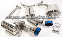 CATBACK EXHAUST WITH TITANIUM TIPS for AUDI A4 B7 2004-2008 STAINLESS STEEL