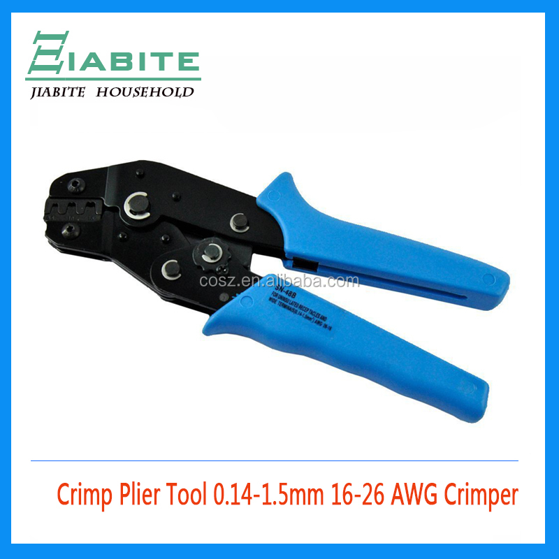 SN-48B Crimp Plier Tool 0.14-1.5mm 16-26 AWG Crimper for JST Molex Deutsch Pin