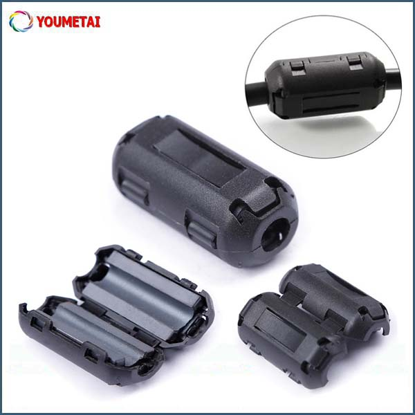 electronic cable accessory EMI suppression split ferrite core for high frequency singal