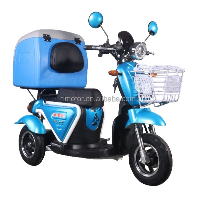 800W 48V electric food delivery cargo tricycle
