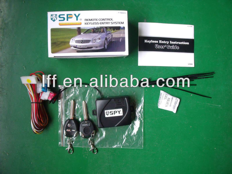 Free sample 2 remotes car alarm door lock unlock system without siren