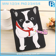 Tablet Cute Soft Silicone Case For Ipad Mini 1 2 3 4 Bulldog Animal Soft Case