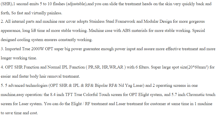 MY-L88 Multifunction 4 in 1 OPT Elight Nd Yag therapy Tattoo removal laser hair removal best shr ipl machine price(CE)