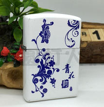 Charging arc lighters Creative personality The rechargeable lighter blue and white porcelain design