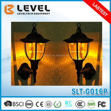4pcs 2V/40MA Amorphous Silicon + 1 Pc Warm White LED plastic Outdoor Garden Enurope Solar Energy Wall Lamp