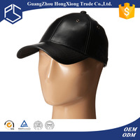 China manufacture custom 100% cowhide plain leather baseball caps hats
