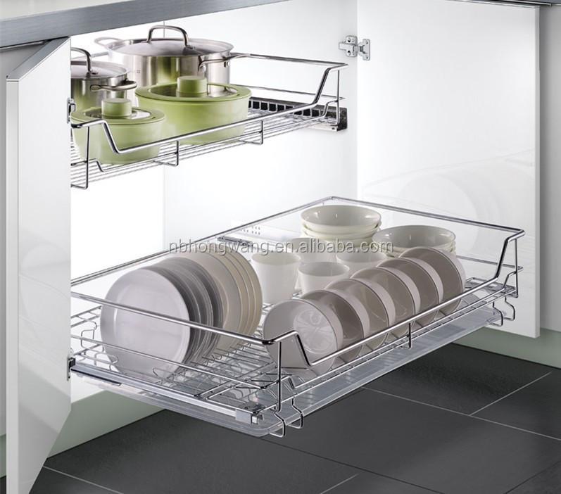 2016 traction hors armoire coulissant fil panier pour cuisine stockage panier de rangement id de - Panier rangement cuisine ...