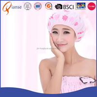 Alibaba express children bath wash hair protect soft hat ear disposable baby shower cap