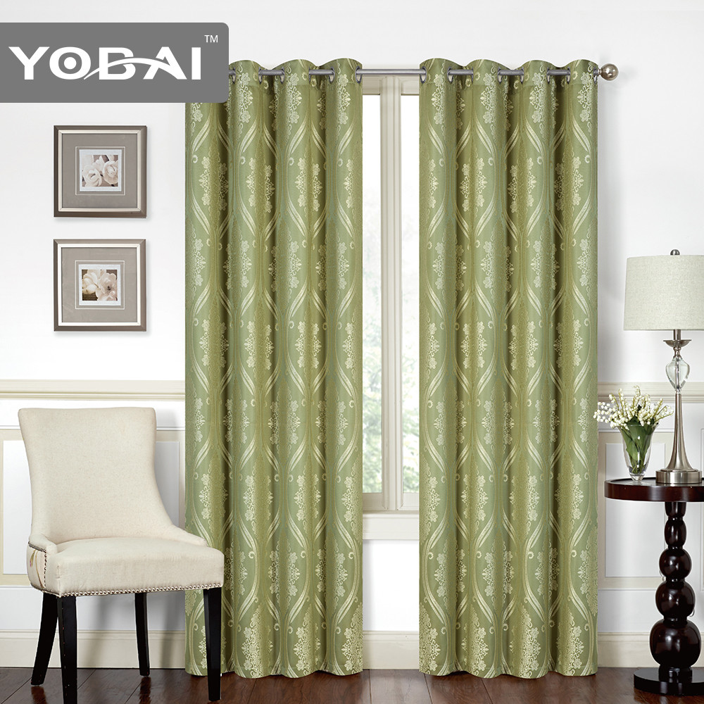 Europe Style Velet Flame Home Fashion Line Luxury Turkish Window Jacquard Curtain