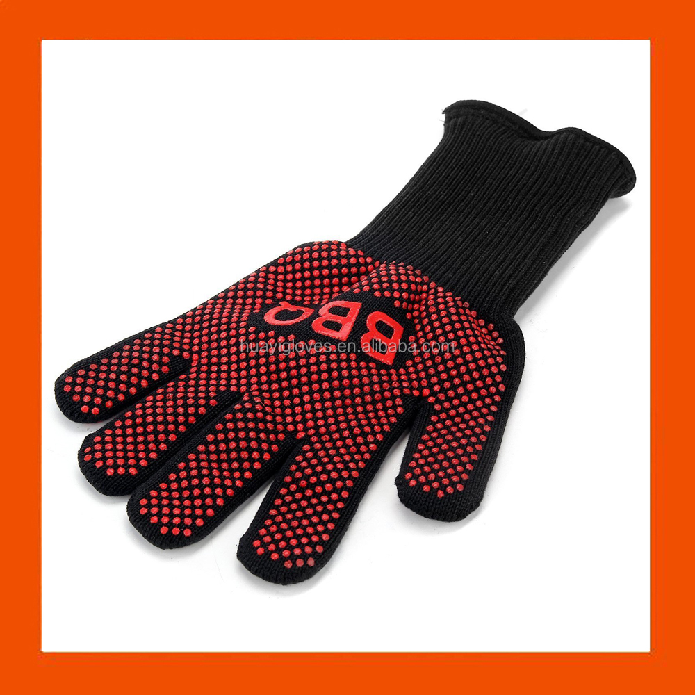 Amazon Heat Resistant BBQ Grill Oven Gloves Protection With Fingers