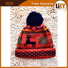 2015 hot selling baby red horse pattern hats flowers and plants printing hat crocheted christmas hat making machines