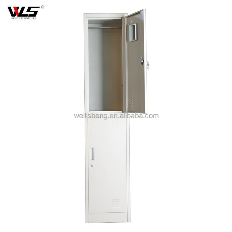 China cheap kd used metal wardrobe/steel wardrobe 2 doors