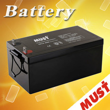 MUST High quality long life agm battery 12v 250ah for solar system