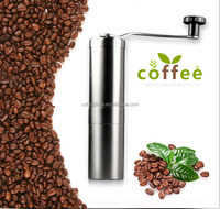 Manual Coffee Grinder | Conical Burr Mill for Precision Brewing | Brushed Stainless Steel Premium Ceramic Burr Coffee Grinder