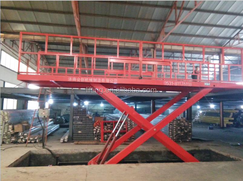 China CE motorized projector scissor lift cargo lift