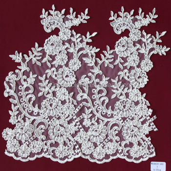 Fashion Water soluble embroidery heavy lace fabric trim