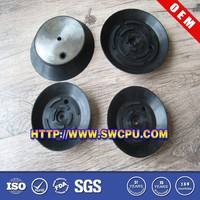Custom epdm rubber black suction cup with metal part for industy