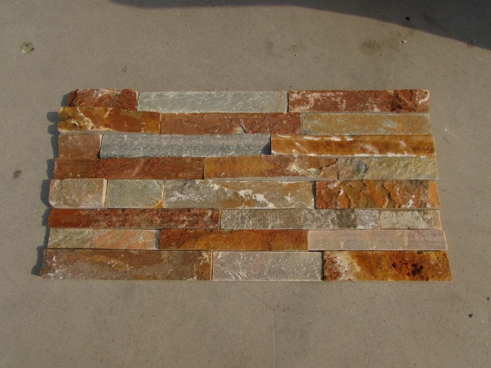 Rustique naturel panneau pierre pour mur ext rieur maison for Placage pierre exterieur