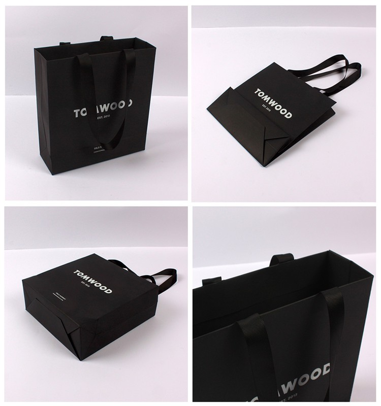 Custom Printed Colorful Paper Shopping Bag with Handle