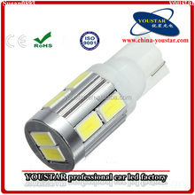 T10 5630 SMD 10-LED White Light Bulb for Car Indicate/Dashboard/Width Signal Lamps
