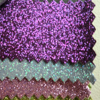 Hot sale small glitter powder glitter leather for bags DG0408
