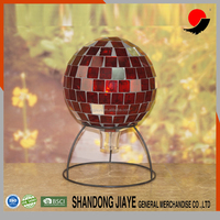 Red Mosaic Glass Gazing Ball With