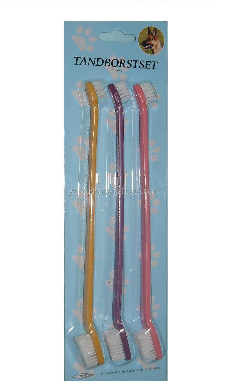 Dog toothbrushes 3 pcs packed in blistercard