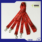 Double hooks heat transfer lanyard /necklace /id card holder lanyard