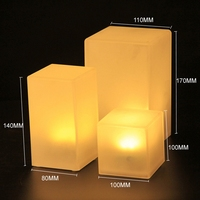 100MM LED Cube European style modernABS Materialrechargeable led table lamps Free Shipping