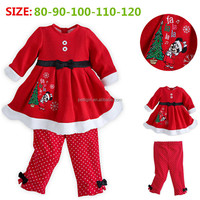 New Autumn Cartoon Polar Fleece Kids Cothing Sets Christmas Hot Unisex Outfits Suits For Winter Little Kids Wear