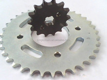 motorcycle parts wholesale CG125 1045 steel white zinc 428H-116L motorcycle chain sprocket wheel