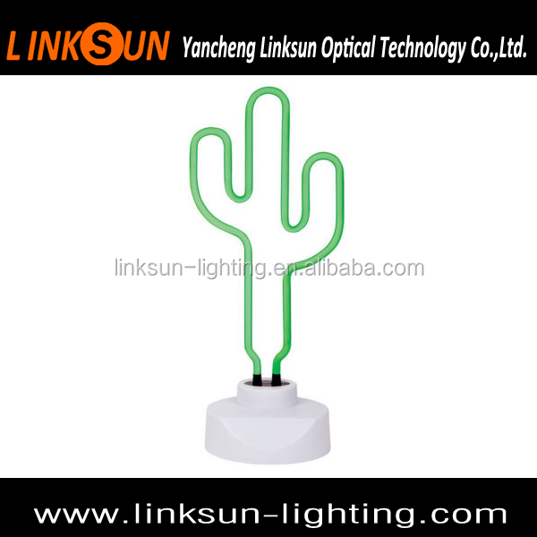 cactus neon table lights for bedroom