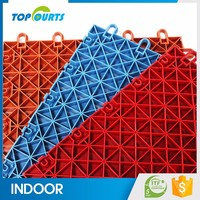 International certificate for quality assurance interlocking plastic sport floor gym