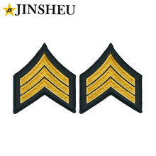 custom embroidery army military woven rank insignia
