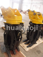 hydraulic excavator rotating grapple for small excavator