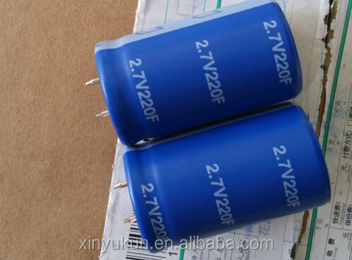 Hot sale of Low Voltage super capacitors 220f 2.7V
