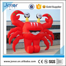 Giant red inflatable crab animal replica advertisement
