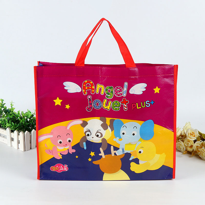 Wholesale cheap eco friendly cute cartoon pp laminated non woven bag tote bag