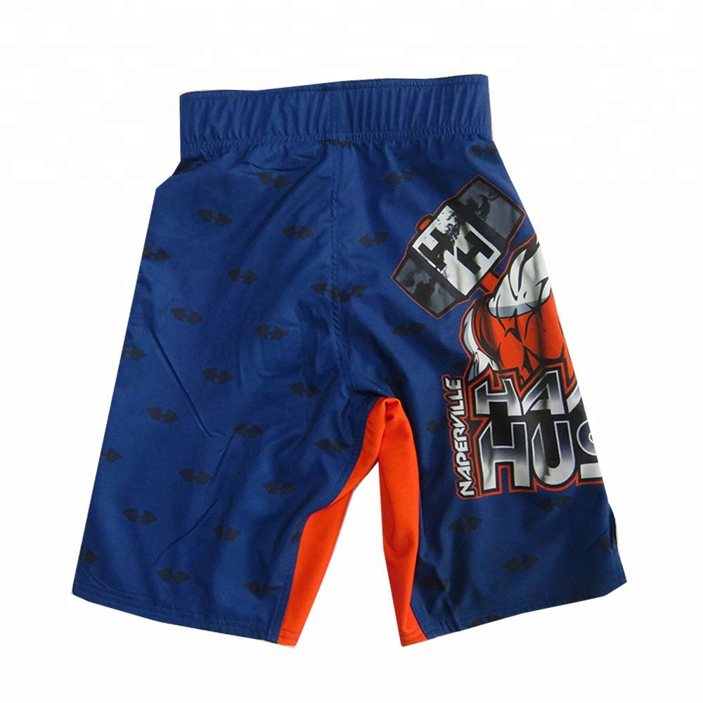 Sublimation quick dry MMA fight shorts fight royal blue shorts