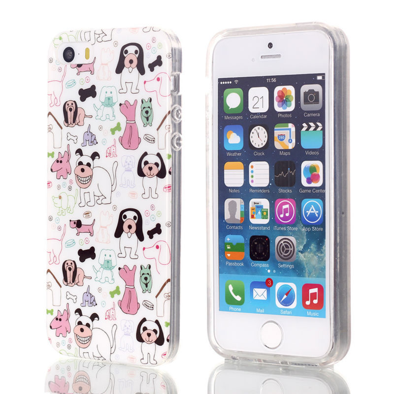 Cute Animal shape cell phone soft gel case cover for iPhone 5